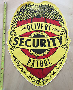 THE OLIVERI CORPORATION  SECURITY PATROL POLICE COP CAR DOOR DECAL *