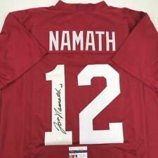 Autographed/Signed JOE NAMATH Alabama Red College Football Jersey JSA COA Auto