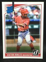 2018 Donruss Victor Robles RC Rated Rookie #42 Nationals