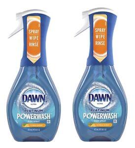 2 Pack Dawn Platinum Powerwash Dish Spray Dish Soap CITRUS Scent 16oz