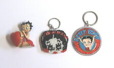 3 Betty Boop Items ~ 2 Key Rings and Picture Holder?
