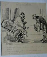 RUDOLF PLACEK ILLUSTRATEUR TCHEQUE Assiette au Beurre - DESSIN ORIG ENCRE 1916 -