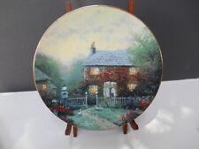 """Thomas Kinkade'S """" Pye Corner Cottage Plate # 5183 A With C.O.A."""