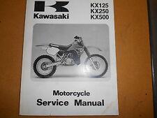 1988 Kawasaki KX125 KX250 KX500 KX 250 500 Factory Service Manual 99924-1101-01