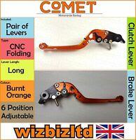 Ducati 749 Foncé 2003-2006 [Pliable Long Orange] [ Comet Réglable Course Levier]