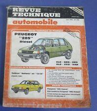 Revue technique automobile rta 456 1985 peugeot 205 diesel