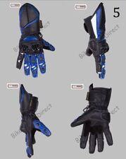 Gants noirs en cuir de vache pour motocyclette Hiver