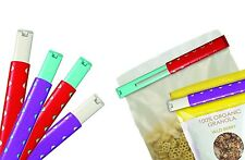 Talisman Designs Storage Bag Clip 2 Set Medium to XL for Sealing Snack Chip