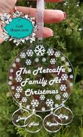 Christmas tree bauble, Personalised Family Bauble, Christmas tree, Family, Love!