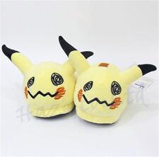 Anime Pokemon Pikachu PLush Winter Warm Slippers Indoor Carpet Shoes