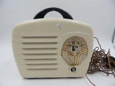 Kent Model 422 Midget Tube Radio Metal 1940s Vintage