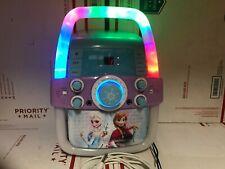 Disney Frozen Flashing Lights Karaoke Machine With Microphone