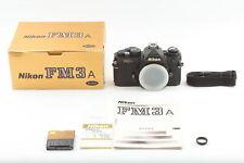 [Near MINT BOX] Nikon FM3A Black 35mm SLR Film Camera Body New Eye Piece JAPAN