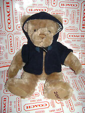 BURBERRY TEDDY BEAR 2009  BROWN TAN PLUSH STUFFED TOY FLEECE HOOD NOVA CHECK 10""