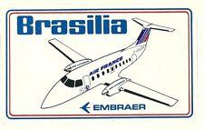 Autocollant sticker Aviation avion AIR FRANCE BRASILIA EMBRAER aéronautique