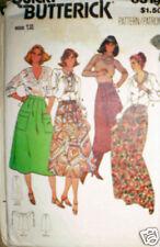 6319 Vintage Butterick SEWING Pattern Misses Skirt 12 UNCUT 1970's Quick OOP SEW