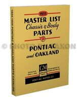 Pontiac and Oakland Master Parts Book 1931 1930 1929 1928 1927 1926 1925 1924