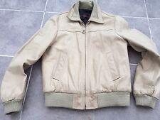 Blouson Cuir marque REDSKINS Homme beige aviateur M veste 38/40