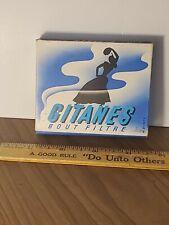 Vintage Cigarettes Pack Gitanes Bout Filtre Made In France empty slide box RARE