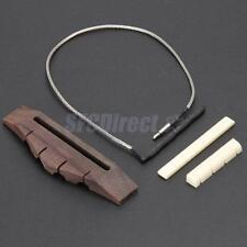 Ukulele Bridge Rosewood w/ Bridge Piezo Saddle Nut for 4 String Guitar Parts