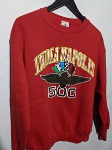 Vintage Indianapolis 500 Indy Racing Red Crewneck Sweatshirt Sz M Delta tag
