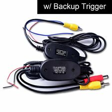 Wireless Video Cable w/ Backup Trigger Wire Tx & Rx for RCA Rear View Camera Kit