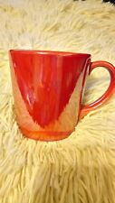 STARBUCKS 2012 PEARLESENT RED COFFEE MUG, MADE IN PORTUGAL, 14 OUNCES