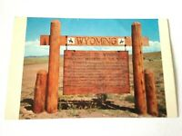Vintage Postcard Welcome To Wyoming The Unspoiled West  M1