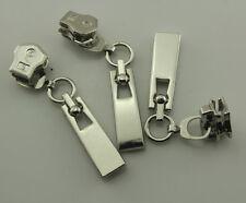 20Pcs Silver Tone Rectangle Zipper #5 Zip Slider Instant Repair Replacement