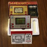Nintendo Game Watch Gold LION LN-08 1981 Boxed Retro Rare Used Japan