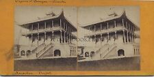 Arcachon Buffet Architecture chinoise France Stereo Vintage albumine ca 1875