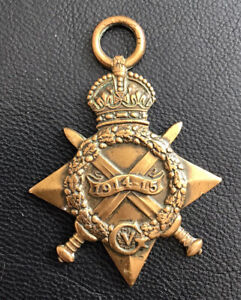 ww1 Highland Light Infantry 1914-15 star casualty