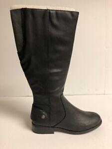 Lifestride Xandy Womens Riding Boot Wide Calf Black 9.5 M