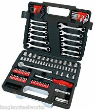 Draper REDLINE 68504 1/4 - 3/8 di pollice quadrato Meccanica Tool Kit (107 pezzi)