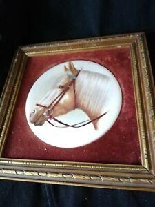 Vintage Ceramic Horse Plaque