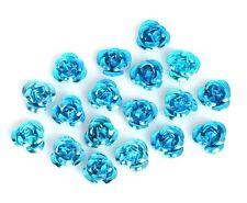50 Perles fleur bleu aluminium 12 mm Métallisées Intercalaire