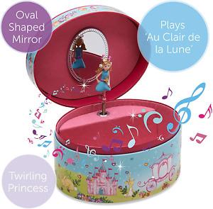 Oval Princess Musical Jewellery Box for Children - Glittery Kids