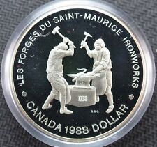 1988 Canada Commemorative Silver Proof Dollar Ironworks Royal Canadian Mint