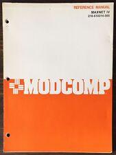ModComp Maxnet Iv Reference Manual 1979