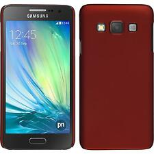 Hardcase Samsung Galaxy A3 (A300) rubberized red Cover + protective foils