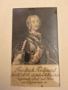 Portrait Friedrich Ferdinand, by Johann M. Bernigeroth, Original 1750s