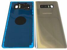 Akku Deckel Cover Akkudeckel Backcover + Linse Silbe Samsung Galaxy Note 8 N950F