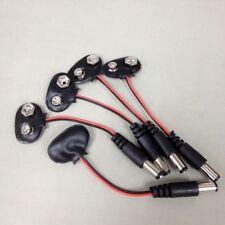 5 x 9V Car CCTV Camera Battery Snap Connector Clip DC 2.1mm Plug Adapter #gtn