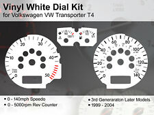VW Transporter T4 (1999 - 2004) Later Models - 140mph - Vinyl White Dial Kit