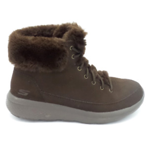 Skechers On the Go Water Resistant Suede Boots Winter Chill Chocolate