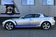 Mazda RX-8 Set of Racing Side Stripes Decal Sticker Graphic