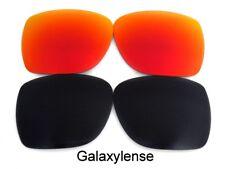 Galaxie rechange lentilles pour SPY OPTIC Helm Lunettes de soleil noir et rouge
