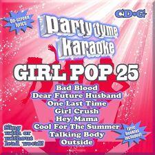 Party Tyme Karaoke Girl Pop 25 CD CD+G NEW