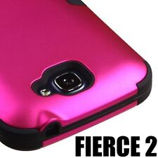 For ALCATEL One Touch Fierce II 2 7040T HARD&SOFT RUBBER HYBRID ARMOR CASE COVER