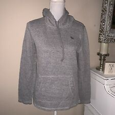 ABERCROMBIE & Fitch Unisex Long Sleeves Hooded Shirt Size XS Gray